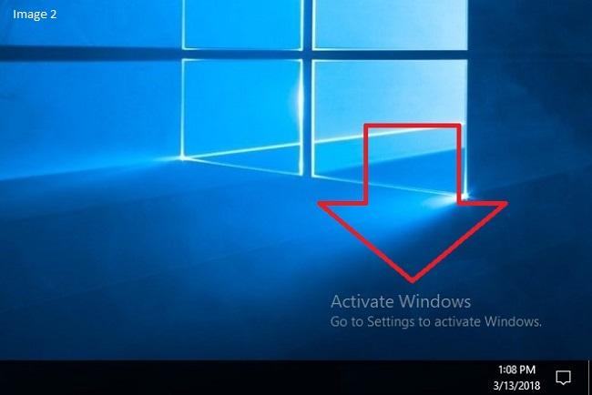 Activate Windows 10 Watermark